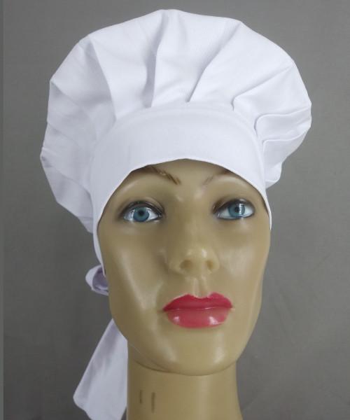 Uniformes para Gastronomia e Restaurantes em Geral: Touca Chef de amarrar branca